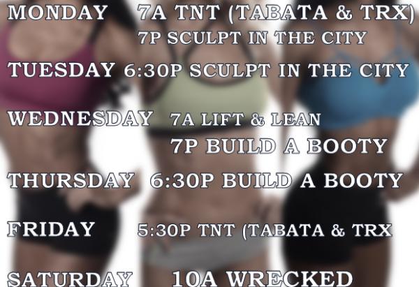 Semi-Private Training Schedule