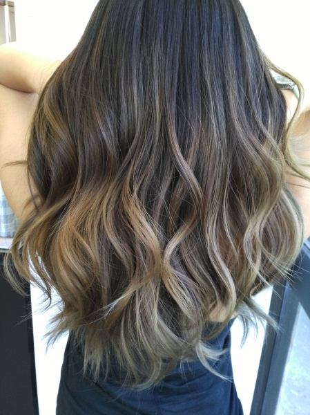 Balayage ombre - Ash brown