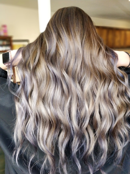Ash purple Balayage