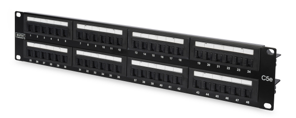 Patch Panel 48 puertos LSA - CAT 5e - 2U - Sin Blindaje - DN-91548U