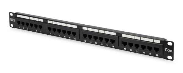 Patch Panel 24 puertos LSA - CAT 5e - 1U - Sin Blindaje - DN-91524U