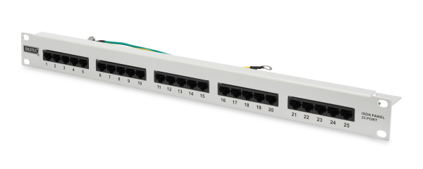 Patch Panel 25 puertos LSA - CAT 3 - 1U - Sin Blindaje - DN-91325-1