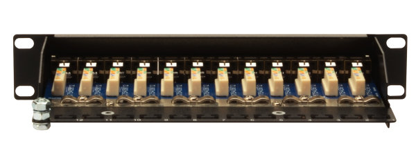 Patch Panel 12 puertos LSA - CAT 5e - 1U - Blindado - DN-91512S