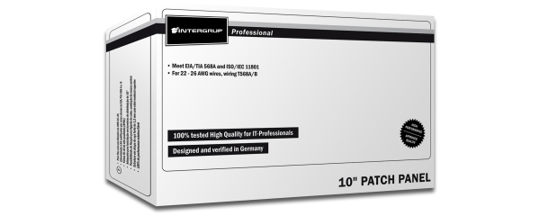 Patch Panel 12 puertos LSA - CAT 5e - 1U - Blindado - DN-91512S