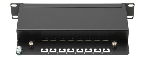 Patch Panel 8 puertos LSA - CAT 5e - 1U - Blindado - DN-91508S