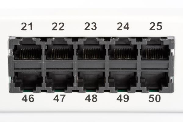 Patch Panel 50 puertos LSA - CAT 3 - 1U - Sin Blindaje - DN-91350-1