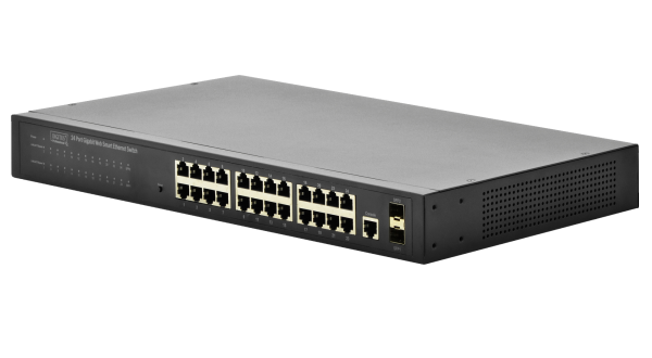 Switch profesional gestionado Gigabit Ethernet - 16 puertos - 2 puertos SFP - DN-80221-1