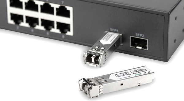 Gigabit Ethernet no administrado Switch de 8 puertos, 2 puertos SFP - DN-80065