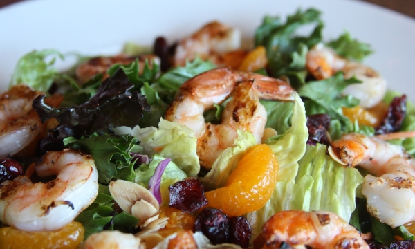 Honey Lemon Grilled Shrimp Salad