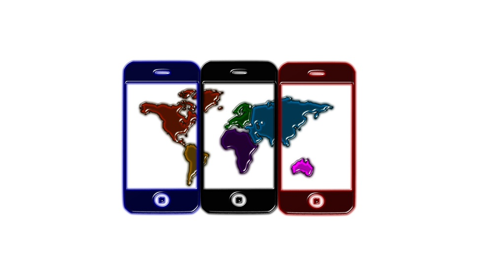 The world pictured across 3 mobile devices. Build your business around the world.
