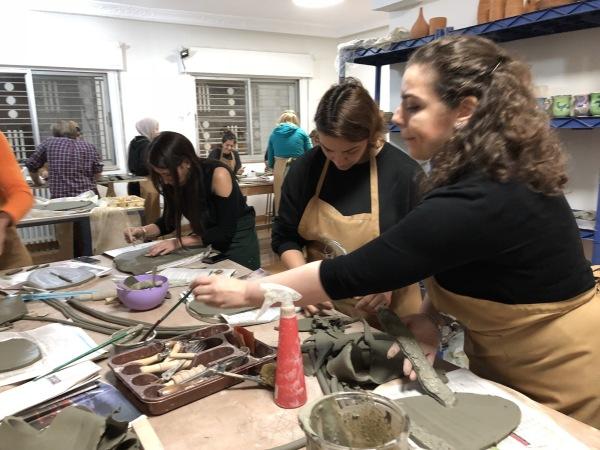 #artclass #Pottery #AymenAzzam #cacamman #clay #sculpting