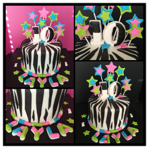 Neon Stars w/Zebra