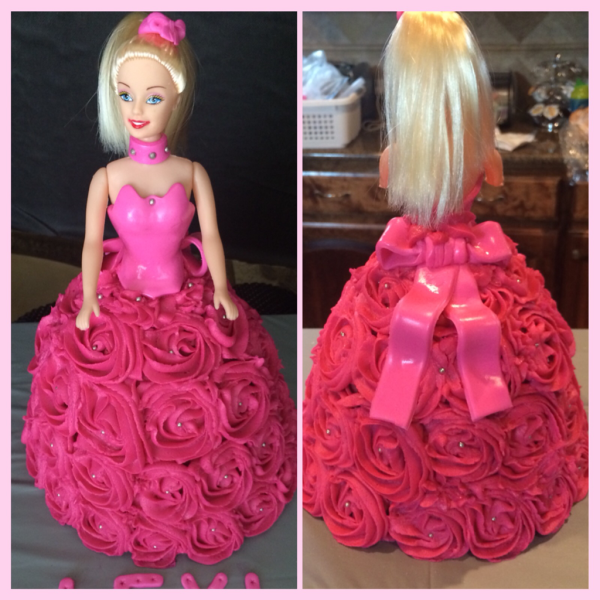 Hot Pink Buttercream Barbie