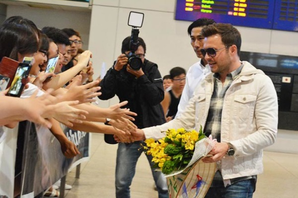 Shane Filan of Westlife has come to Ho Chi Minh City
