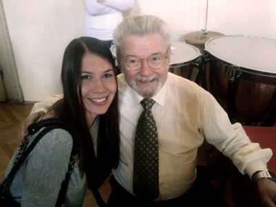 With Sir James Galway