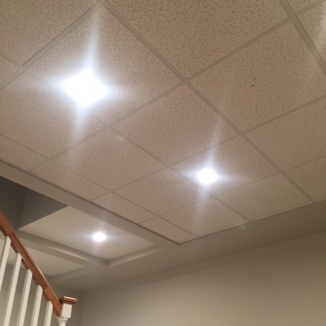DROP CEILING & RECESSED LIGHTING