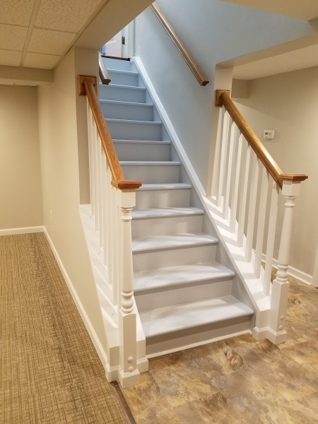 CUSTOM BASEMENT STAIRCASE