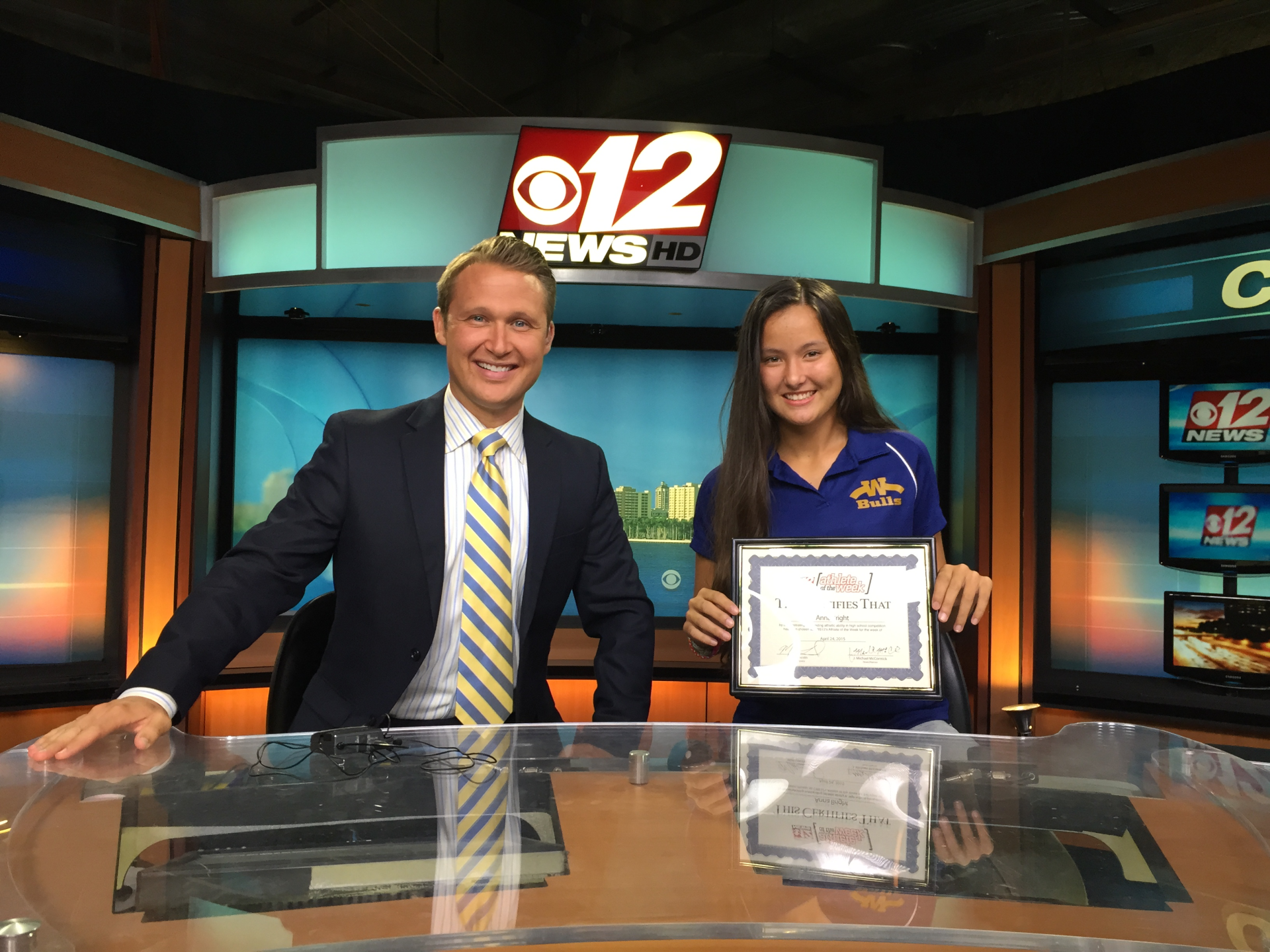 "|Anna Bright for ""Player of the Week"" on CBS12"