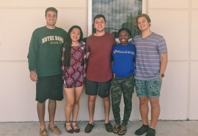 Left to right: Matt Gross, Angelia Bulatao, Austin Winslow, Lade'ja Martins, Emiliano Barin