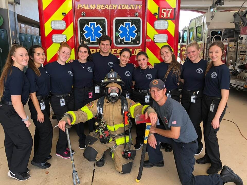 EMR Students Visit Fire Station