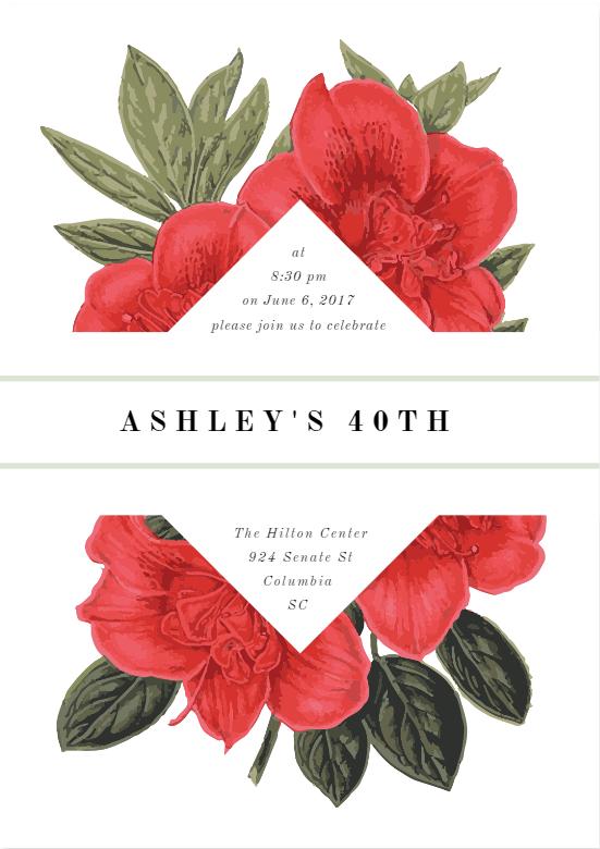 40th Bday Invite