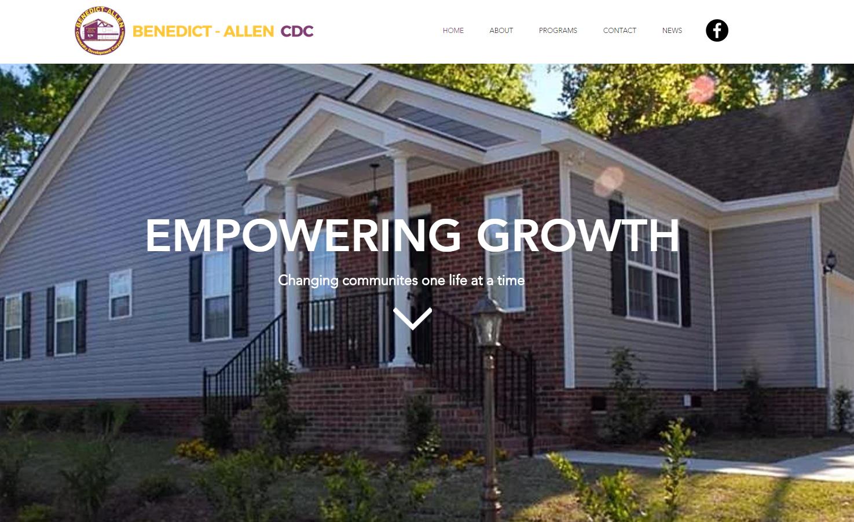 Benedict-Allen CDC Website Design