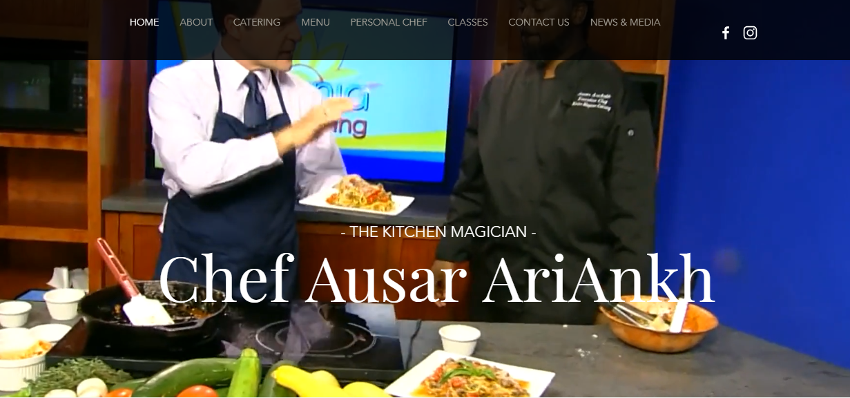 Kitchen Magician Catering co website design