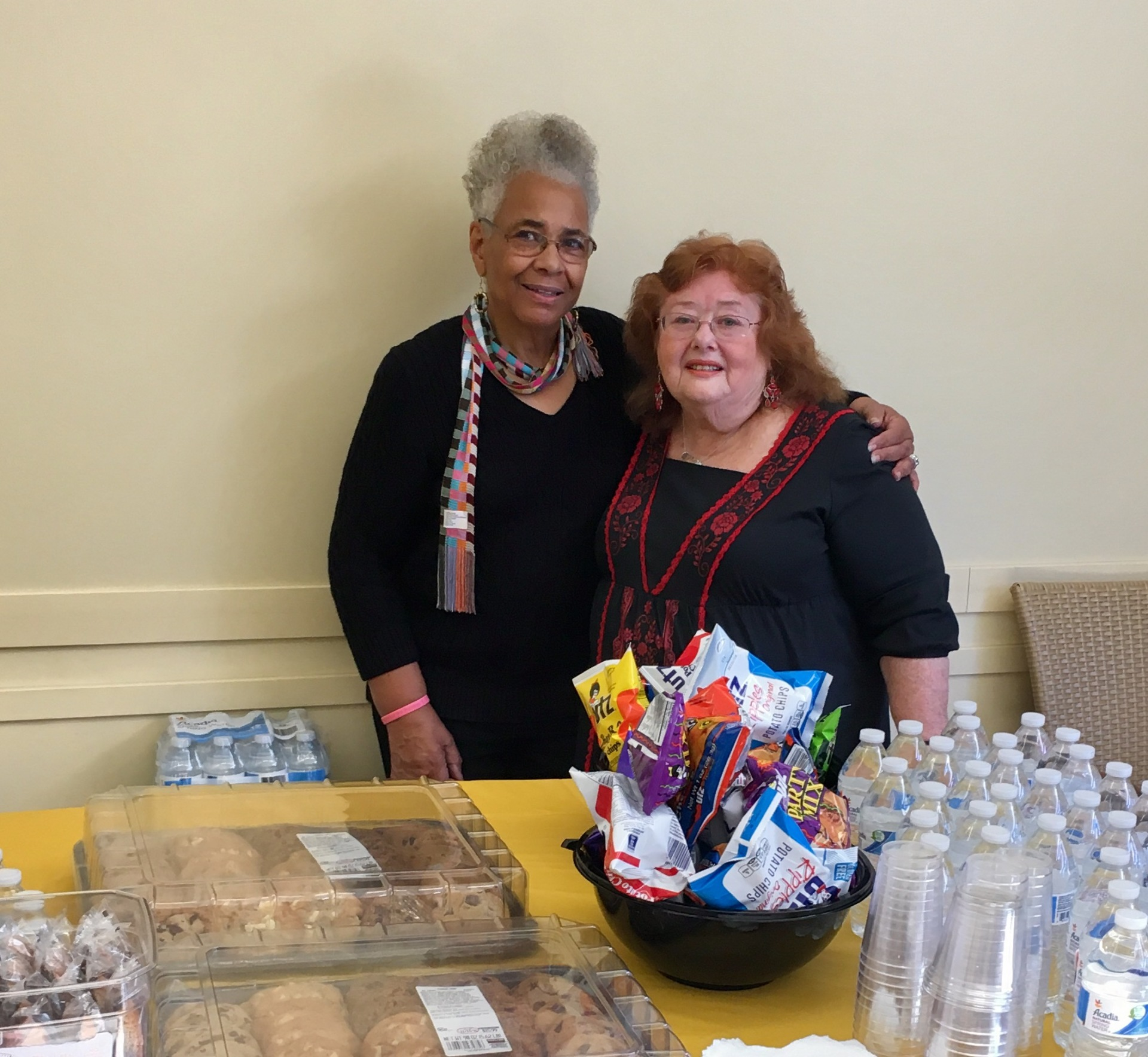 Vivian & Margarete Helping with the Refreshments