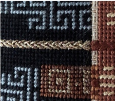 Van Dyke Stitch over 2 threads
