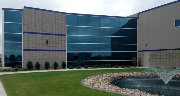 Blue Commercial Glass