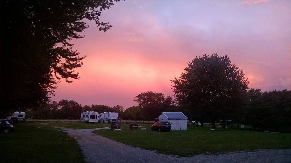 Sunset on the Campsites