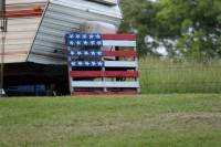 United States Flag on RV campgrounds