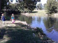 Kids by Lake