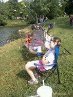 Kids Fishing in Lake