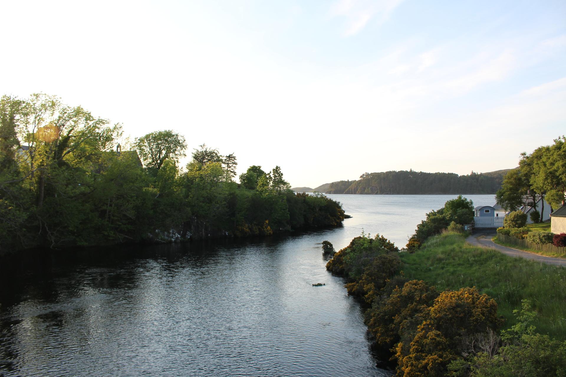 River Ewe meets Loch Ewe