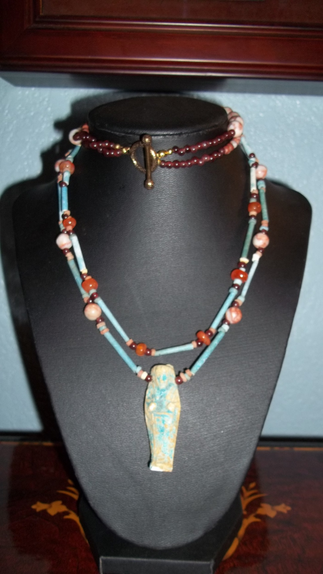 Ancient Egyptian Faience Beads with Pendant