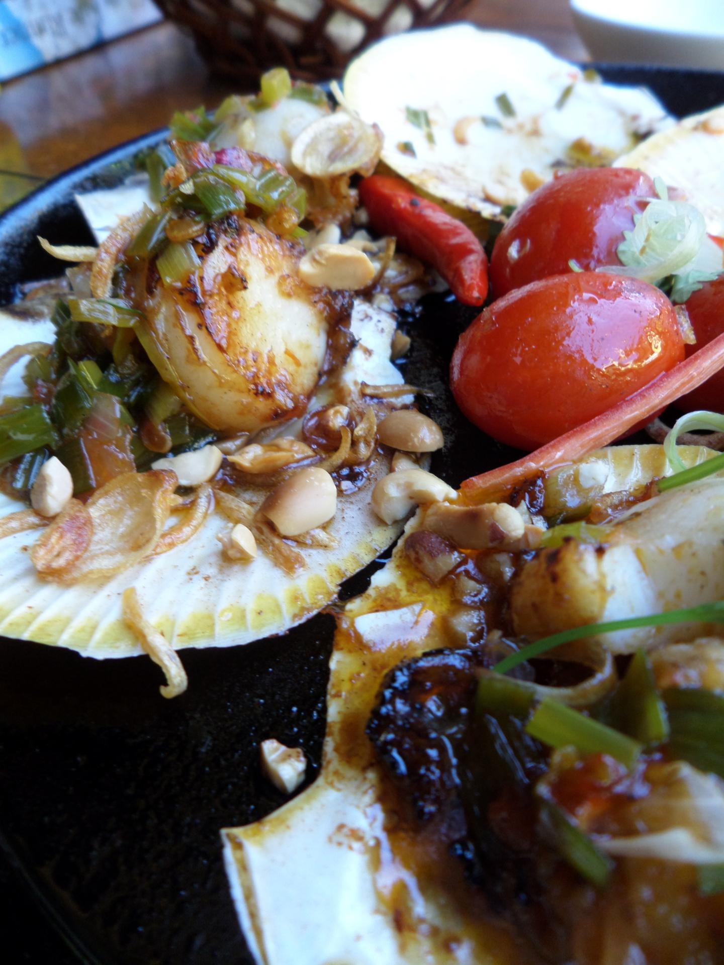Travelling Snack Restaurant, food van- scallops
