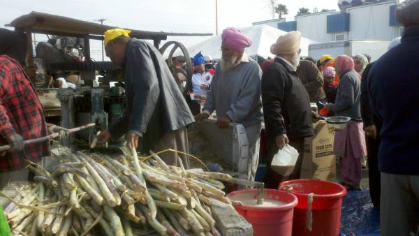 Sugar Cane Juice at the Yuba City Sikh Festival