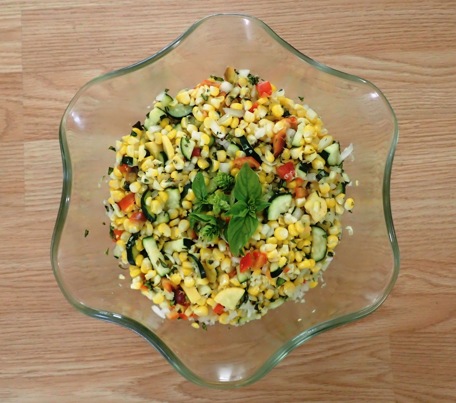 Homemade Farmer's Market Corn Salad
