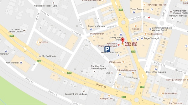 Parking, Free Parking, direction, Map, Victoria Street Medical Clinic