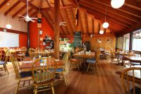 Interior shot of Village Cafe Restaurant Lighthouse Beach Port Macquarie
