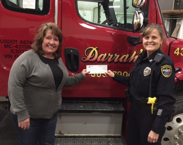 $1000 Donation from Darrahs Towing