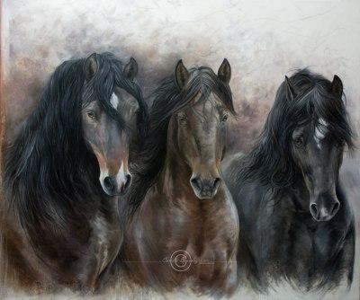 G1-040 Trio Petit cheval de fer