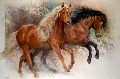 G3-001 Chevaux de tant de passions - Disponible/Available