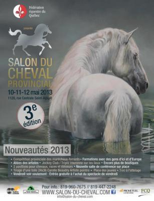 Portrait officiel du Salon du cheval provincial, St-Agapit, Qc. 2013