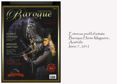 Baroque Horse Magazine, Australie. Issue 7, 2012