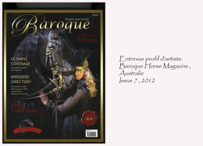 Baroque Horse Magazine, Australie. Issue 7, 2012
