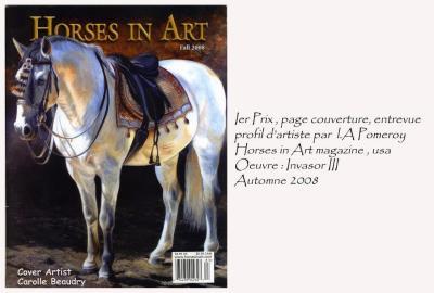 1re prix - Horses in Art magazine, É-Us. Automne 2008.