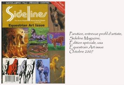 Sideline Magazine, édition spéciale Equestrian Art issue, É-Us. Octobre 2007