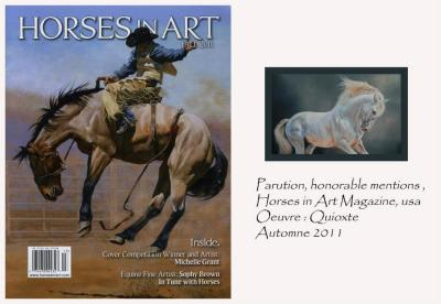 Horses in Art Magazine, É-Us. Automne 2011.